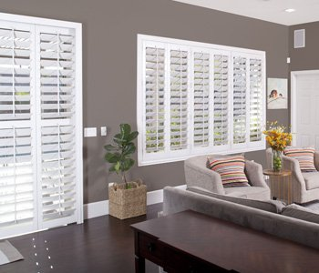 Southern California plantation shutters